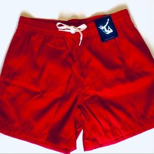 Chubbies Mens Sky our Thighs Out Red Shorts
